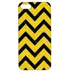 Chevron9 Black Marble & Yellow Colored Pencil Apple Iphone 5 Hardshell Case With Stand