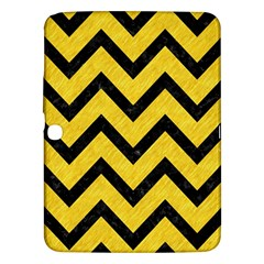 Chevron9 Black Marble & Yellow Colored Pencil Samsung Galaxy Tab 3 (10 1 ) P5200 Hardshell Case