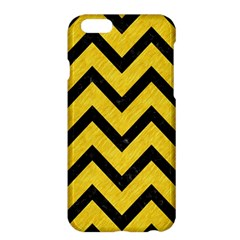 Chevron9 Black Marble & Yellow Colored Pencil Apple Iphone 6 Plus/6s Plus Hardshell Case