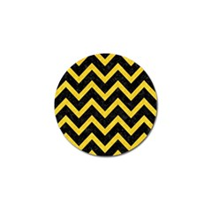Chevron9 Black Marble & Yellow Colored Pencil (r) Golf Ball Marker (10 Pack)