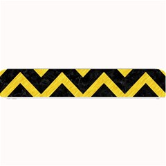 Chevron9 Black Marble & Yellow Colored Pencil (r) Small Bar Mats