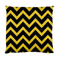 Chevron9 Black Marble & Yellow Colored Pencil (r) Standard Cushion Case (two Sides)