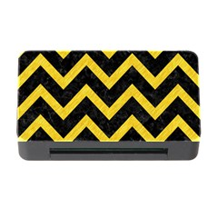 Chevron9 Black Marble & Yellow Colored Pencil (r) Memory Card Reader With Cf
