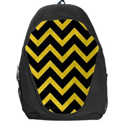Chevron9 Black Marble & Yellow Colored Pencil (r) Backpack Bag