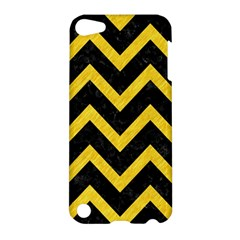 Chevron9 Black Marble & Yellow Colored Pencil (r) Apple Ipod Touch 5 Hardshell Case