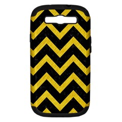 Chevron9 Black Marble & Yellow Colored Pencil (r) Samsung Galaxy S Iii Hardshell Case (pc+silicone)