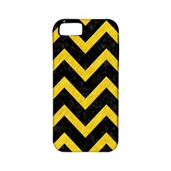 Chevron9 Black Marble & Yellow Colored Pencil (r) Apple Iphone 5 Classic Hardshell Case (pc+silicone)