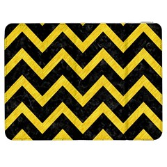 Chevron9 Black Marble & Yellow Colored Pencil (r) Samsung Galaxy Tab 7  P1000 Flip Case