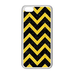 Chevron9 Black Marble & Yellow Colored Pencil (r) Apple Iphone 5c Seamless Case (white)