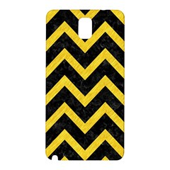Chevron9 Black Marble & Yellow Colored Pencil (r) Samsung Galaxy Note 3 N9005 Hardshell Back Case