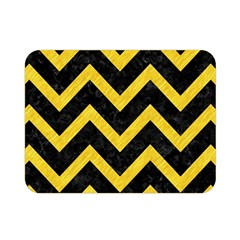 Chevron9 Black Marble & Yellow Colored Pencil (r) Double Sided Flano Blanket (mini)