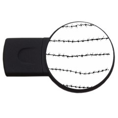 Barbed Wire Black Usb Flash Drive Round (2 Gb)