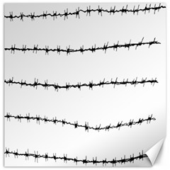 Barbed Wire Black Canvas 20  X 20