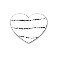 Barbed Wire Black Heart Coaster (4 Pack)