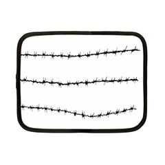 Barbed Wire Black Netbook Case (small)