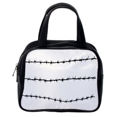 Barbed Wire Black Classic Handbags (one Side)