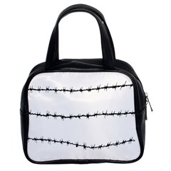 Barbed Wire Black Classic Handbags (2 Sides)