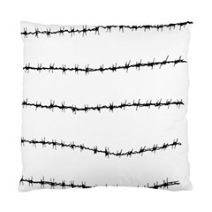 Barbed Wire Black Standard Cushion Case (one Side)