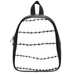 Barbed Wire Black School Bag (small)
