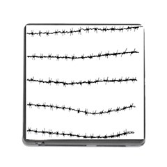 Barbed Wire Black Memory Card Reader (square)