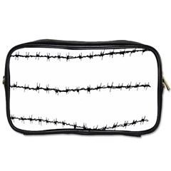 Barbed Wire Black Toiletries Bags 2 Side
