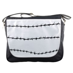 Barbed Wire Black Messenger Bags