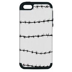 Barbed Wire Black Apple Iphone 5 Hardshell Case (pc+silicone)
