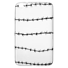 Barbed Wire Black Samsung Galaxy Tab 3 (8 ) T3100 Hardshell Case
