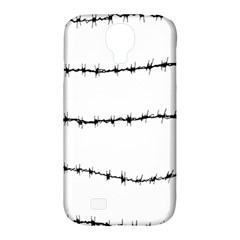 Barbed Wire Black Samsung Galaxy S4 Classic Hardshell Case (pc+silicone)