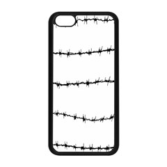 Barbed Wire Black Apple Iphone 5c Seamless Case (black)