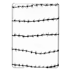 Barbed Wire Black Ipad Air Hardshell Cases