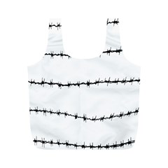 Barbed Wire Black Full Print Recycle Bags (m)