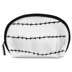 Barbed Wire Black Accessory Pouches (large)