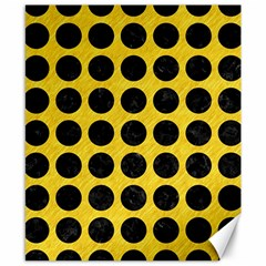 Circles1 Black Marble & Yellow Colored Pencil Canvas 8  X 10