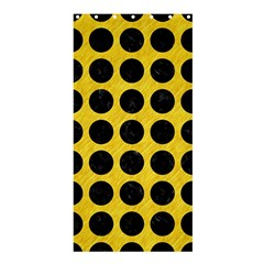 Circles1 Black Marble & Yellow Colored Pencil Shower Curtain 36  X 72  (stall)