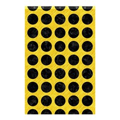 Circles1 Black Marble & Yellow Colored Pencil Shower Curtain 48  X 72  (small)