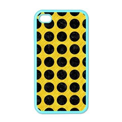 Circles1 Black Marble & Yellow Colored Pencil Apple Iphone 4 Case (color)