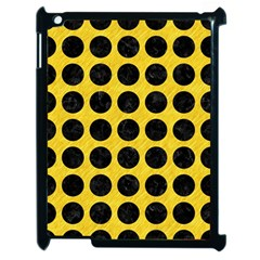 Circles1 Black Marble & Yellow Colored Pencil Apple Ipad 2 Case (black)
