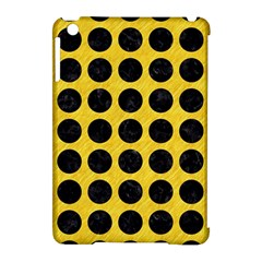 Circles1 Black Marble & Yellow Colored Pencil Apple Ipad Mini Hardshell Case (compatible With Smart Cover)