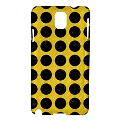Circles1 Black Marble & Yellow Colored Pencil Samsung Galaxy Note 3 N9005 Hardshell Case