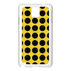 Circles1 Black Marble & Yellow Colored Pencil Samsung Galaxy Note 3 N9005 Case (white)