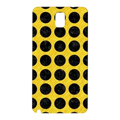 Circles1 Black Marble & Yellow Colored Pencil Samsung Galaxy Note 3 N9005 Hardshell Back Case