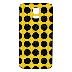 Circles1 Black Marble & Yellow Colored Pencil Samsung Galaxy S5 Back Case (white)
