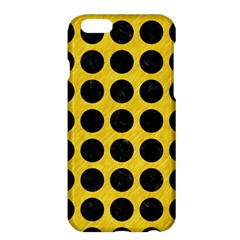 Circles1 Black Marble & Yellow Colored Pencil Apple Iphone 6 Plus/6s Plus Hardshell Case