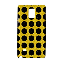 Circles1 Black Marble & Yellow Colored Pencil Samsung Galaxy Note 4 Hardshell Case