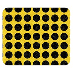 Circles1 Black Marble & Yellow Colored Pencil Double Sided Flano Blanket (small)