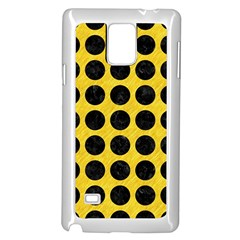 Circles1 Black Marble & Yellow Colored Pencil Samsung Galaxy Note 4 Case (white)