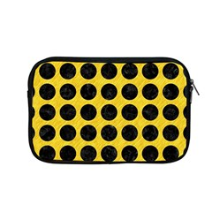 Circles1 Black Marble & Yellow Colored Pencil Apple Macbook Pro 13  Zipper Case