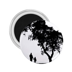 Black Father Daughter Natural Hill 2 25  Magnets