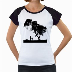 Black Father Daughter Natural Hill Women s Cap Sleeve T